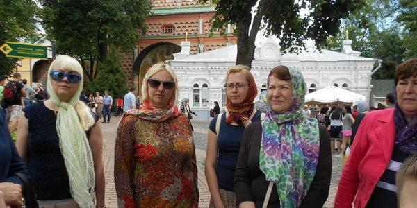 Прихожане в паломнической поездке по маршруту Хотьково-Сергиев Посад-Гефсиманский скит